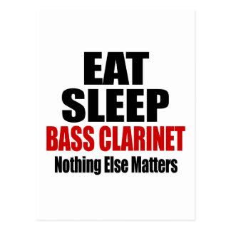 EAT SLEEP BASS CLARINET POSTCARD