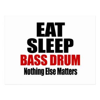 EAT SLEEP BASS DRUM POSTCARD