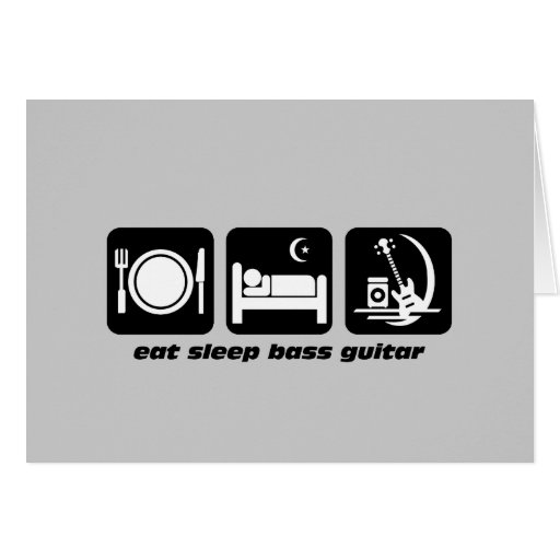 eat sleep bass guitar cards