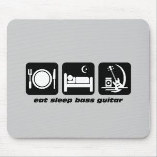 eat sleep bass guitar mouse pad
