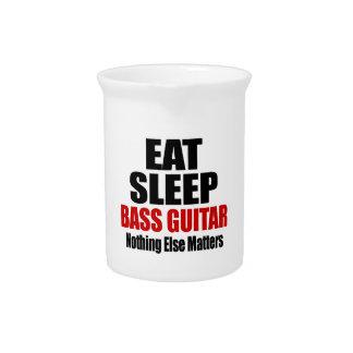 EAT SLEEP BASS GUITAR PITCHER