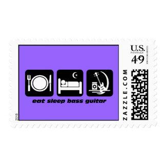 eat sleep bass guitar stamp