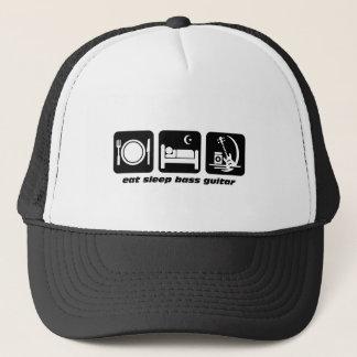eat sleep bass guitar trucker hat
