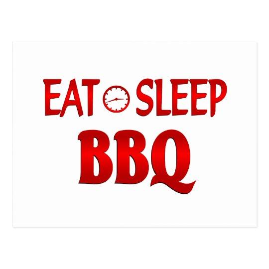 Eat Sleep BBQ Postcard