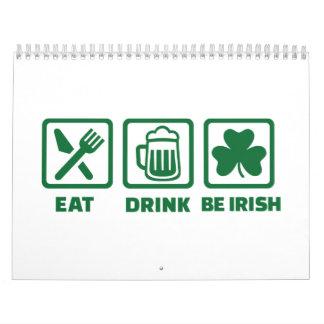 Eat sleep be irish calendar