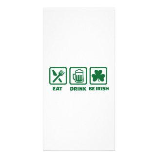 Eat sleep be irish card