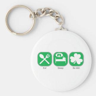 Eat Sleep Be Irish Keychains