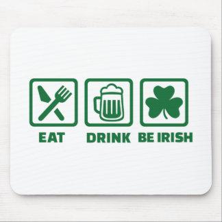 Eat sleep be irish mouse pad