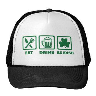 Eat sleep be irish trucker hat