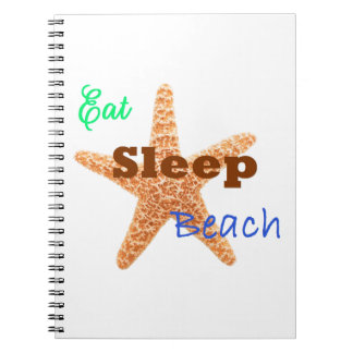 Eat Sleep Beach - Notebook