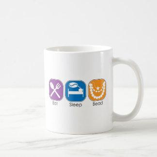 Eat Sleep Bead Classic White Coffee Mug