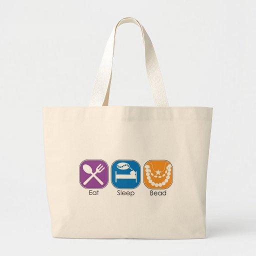 Eat Sleep Bead Jumbo Tote Bag