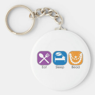 Eat Sleep Bead Keychain