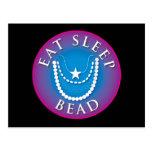 Eat Sleep  Bead Postcard