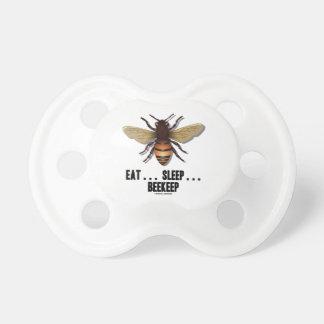 Eat Sleep Beekeep Bee Pacifier