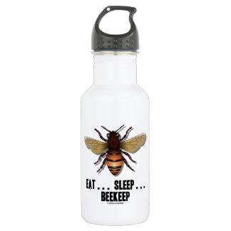 Eat ... Sleep ... Beekeep (Bee) 18oz Water Bottle