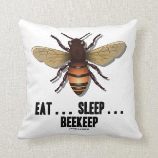 Eat ... Sleep ... Beekeep (Bee) Pillow