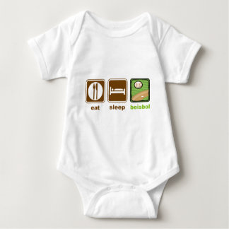 eat sleep beisbol baby bodysuit