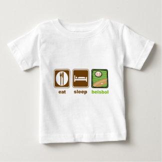 eat sleep beisbol baby T-Shirt