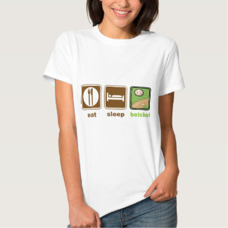 eat sleep beisbol T-Shirt