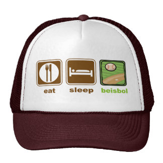 eat sleep beisbol trucker hat