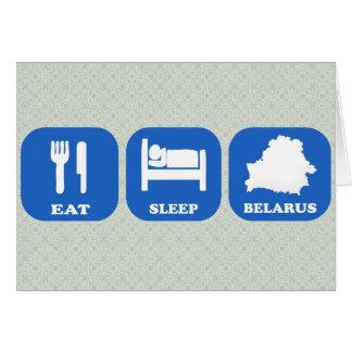 Eat Sleep Belarus Card