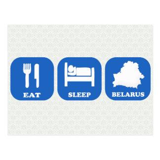 Eat Sleep Belarus Postcards