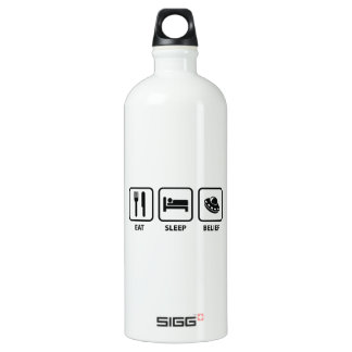 Eat Sleep Belief Aluminum Water Bottle