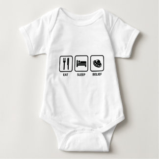 Eat Sleep Belief Baby Bodysuit