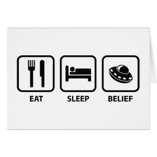 Eat Sleep Belief Card