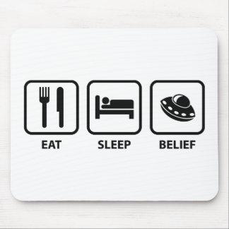Eat Sleep Belief Mouse Pad