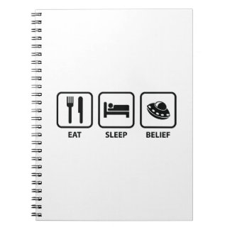 Eat Sleep Belief Notebook