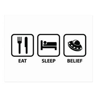 Eat Sleep Belief Postcard