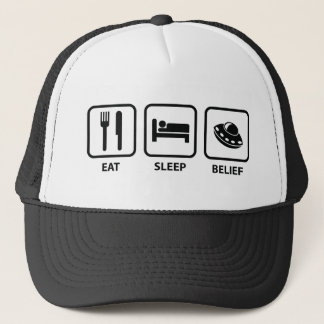 Eat Sleep Belief Trucker Hat