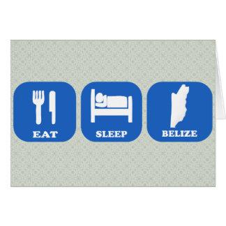 Eat Sleep Belize Greeting Cards