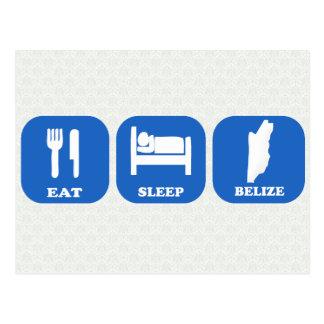 Eat Sleep Belize Postcard