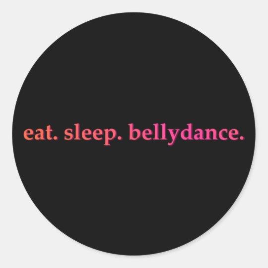 """Eat. Sleep. Bellydance"" Stickers (Black)"