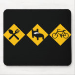 Eat Sleep Bicycle Road Signs Mouse Mats