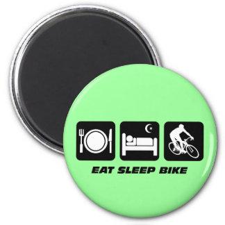 Eat sleep bike 2 inch round magnet