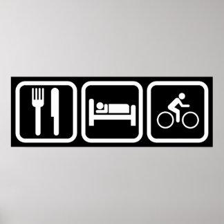 Eat Sleep Bike Poster