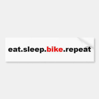 eat sleep bike repeat bumper sticker