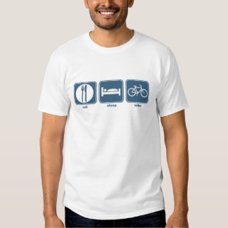 eat sleep bike tee shirt