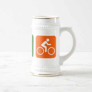 Eat Sleep Biking Beer Stein