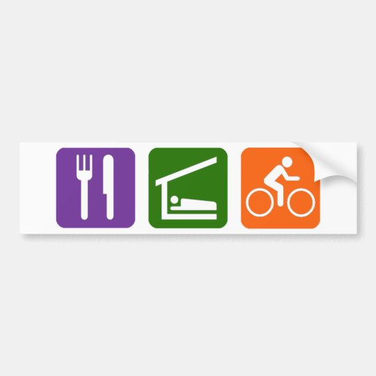 Eat Sleep Biking Bumper Sticker