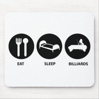 Eat Sleep Billiards Mouse Pad