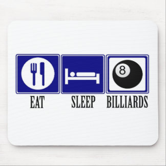 Eat, Sleep, Billiards Mouse Pad