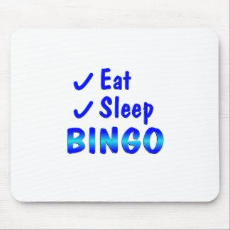 Eat Sleep Bingo Mouse Pad