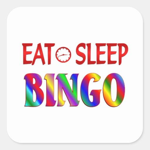Eat Sleep Bingo Square Sticker
