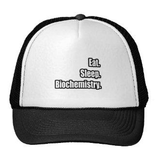 Eat. Sleep. Biochemistry. Mesh Hats