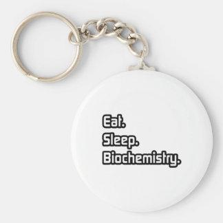 Eat. Sleep. Biochemistry. Key Chain